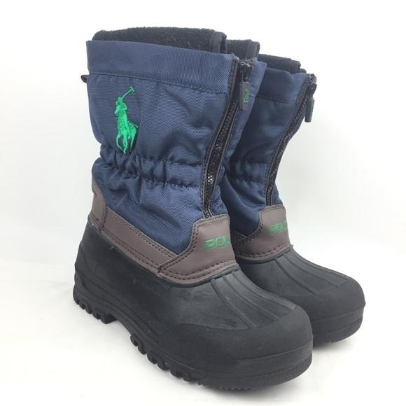 ffcc7e006df Polo Ralph Lauren Snow Boots Kids Boys 13